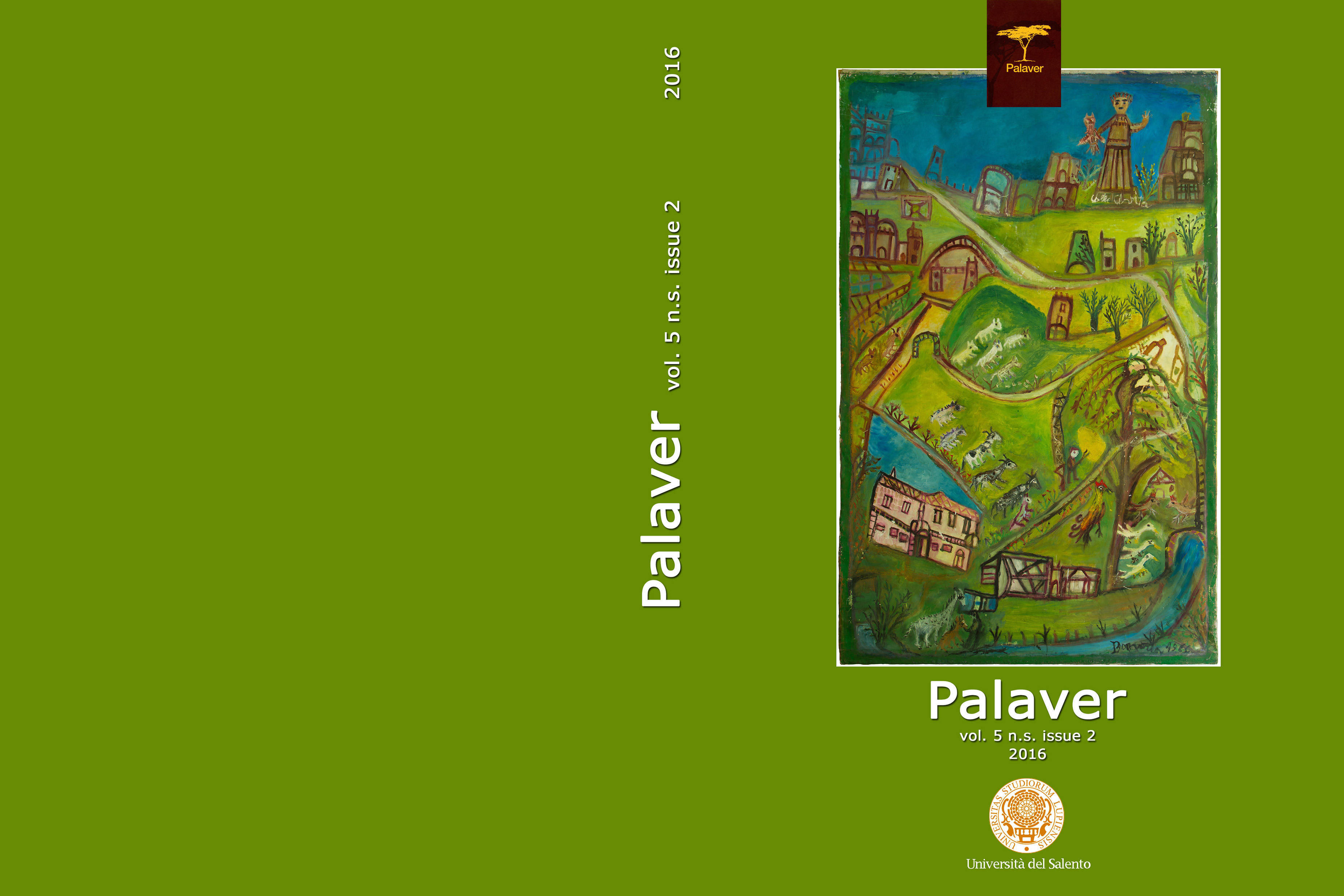 Palaver - Volume 5 n.s., Issue 2 (2016) - Covere-ISSN: 2280-4250